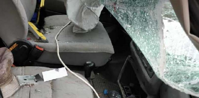 Wypadki drogowe, Dachowanie Łaniętach Zobacz była przyczyna [Aktualizacja] - zdjęcie, fotografia