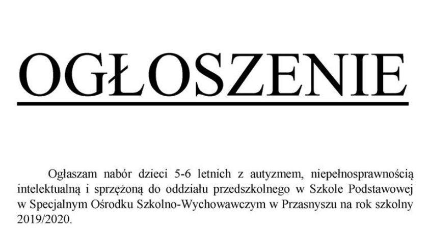Przedszkola i Żłobki, Nabór dzieci oddziału przedszkolnego - zdjęcie, fotografia