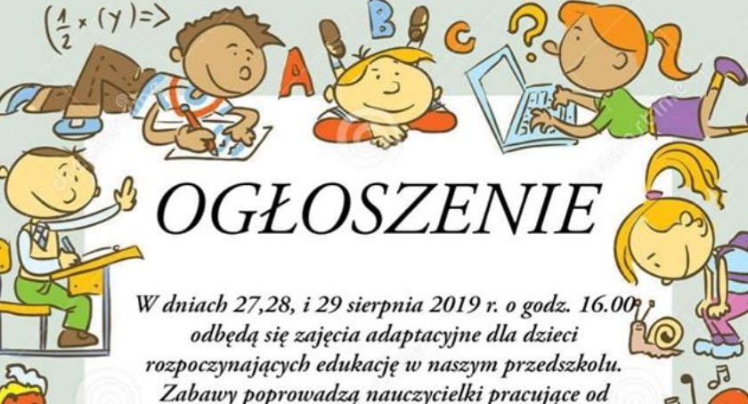Przedszkola i Żłobki, Zajęcia adaptacyjne przyszłych przedszkolaków zaproszenie - zdjęcie, fotografia
