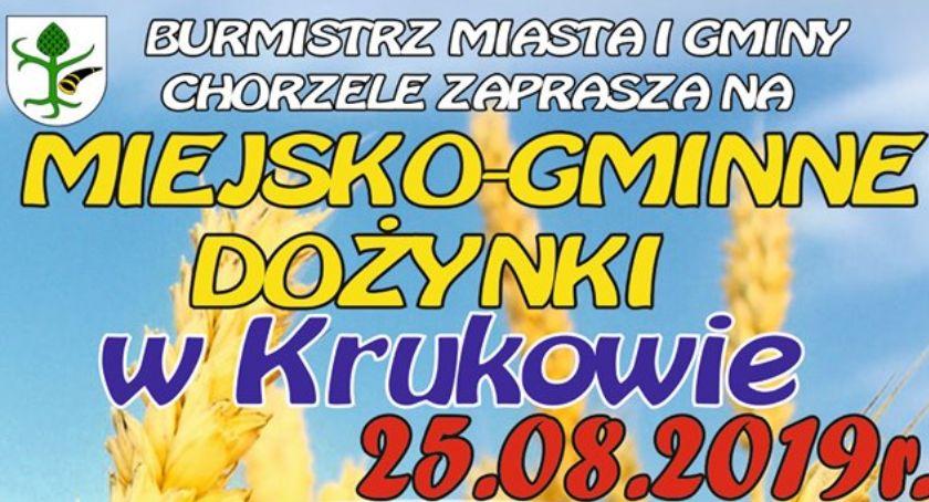 Festyny - Pikniki - Wydarzenia, Chorzele Miejsko Gminne Dożynki Krukowie [Program] - zdjęcie, fotografia