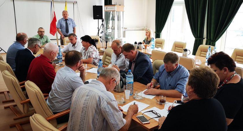 Starosta i Powiat, Pierwsze posiedzenie nowej Powiatowej Mazowieckiej Rolniczej - zdjęcie, fotografia