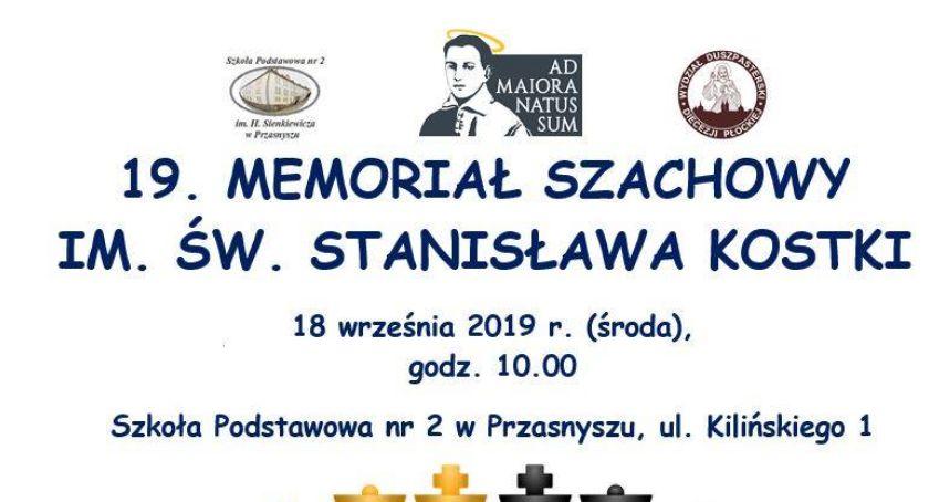 Zawody Sportowe, Memoriał szachowy Stanisława Kostki Przasnyszu - zdjęcie, fotografia