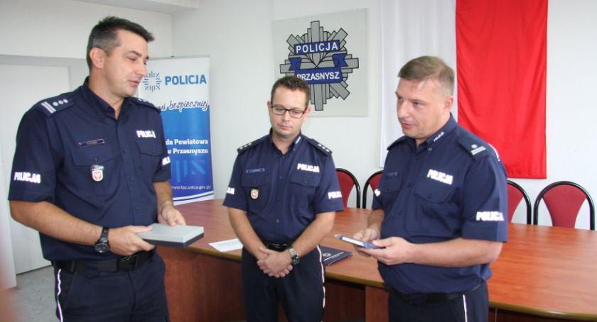 Komunikaty policji , Zmiana stanowisku przasnyskiej Policji Łukasz Jędrasik Zastępcą - zdjęcie, fotografia