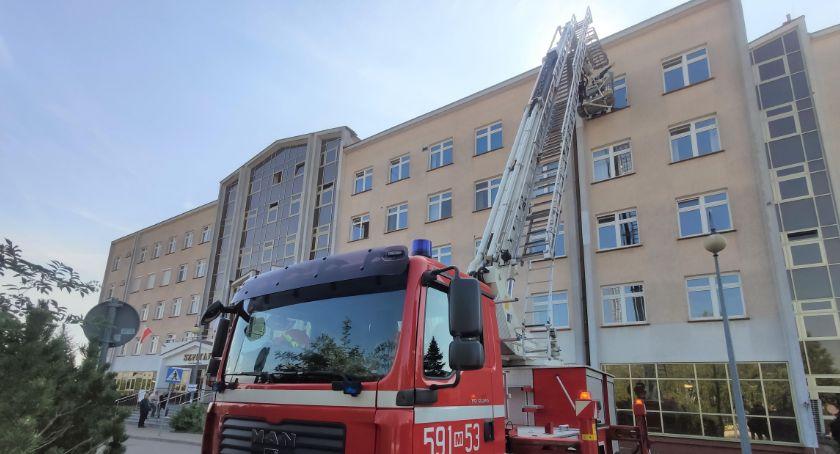 Pożary - Straż , Pożar przasnyskim Szpitalu tylko były ćwiczenia - zdjęcie, fotografia