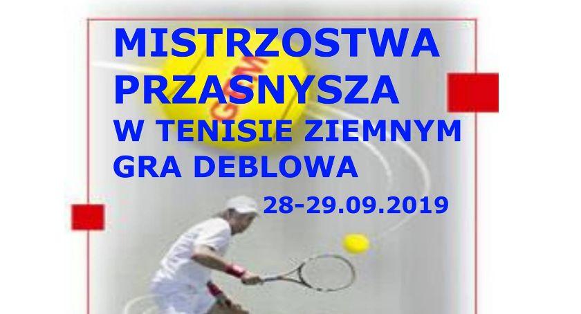 Zawody Sportowe, Mistrzostwa Przasnysza Tenisie Ziemnym deblowej zaproszenie - zdjęcie, fotografia