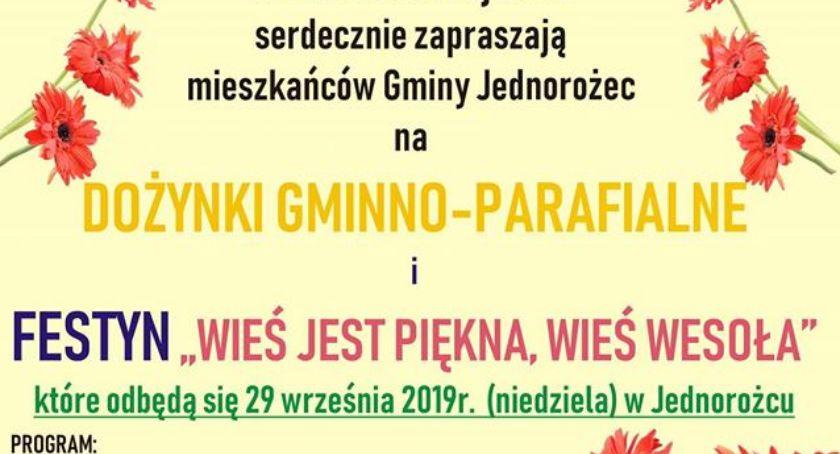 Festyny - Pikniki - Wydarzenia, Dożynki Gminno Parafialne Jednorożcu [Program] - zdjęcie, fotografia
