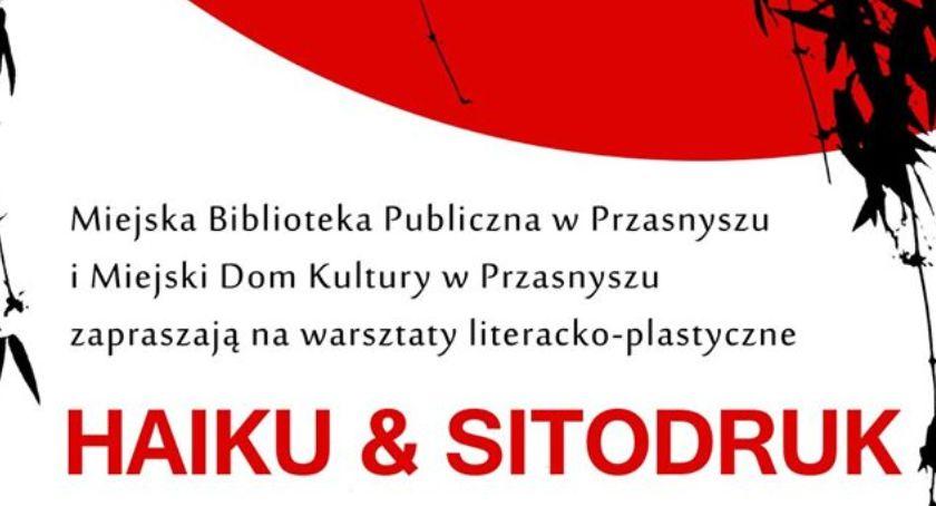 Warsztaty, HAIKU SITODRUK zaproszenie warsztaty - zdjęcie, fotografia