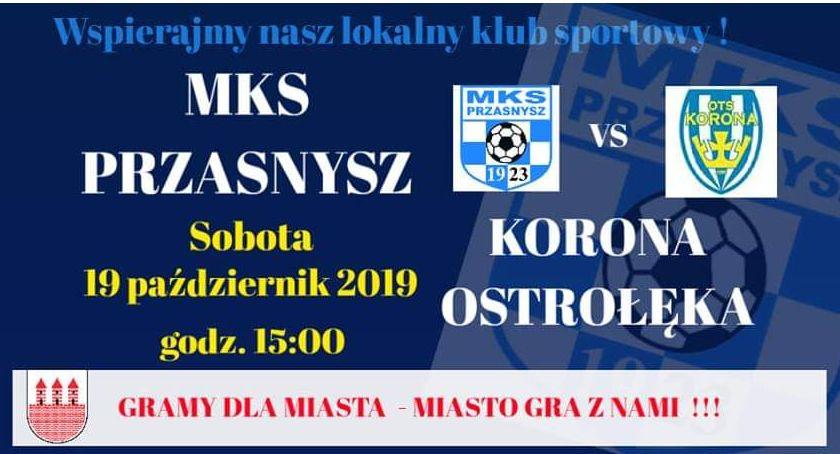 Piłka nożna, Przasnysz Korona Ostrołęka zaproszenie - zdjęcie, fotografia