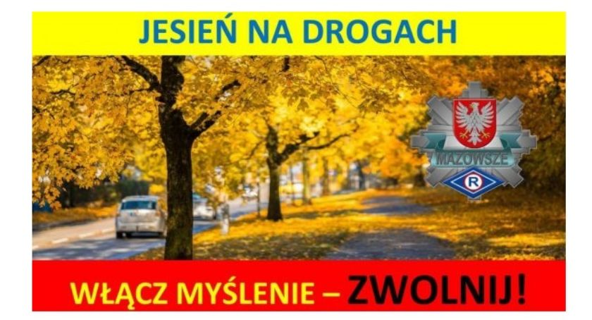 Komunikaty policji , Jesień drodze - zdjęcie, fotografia