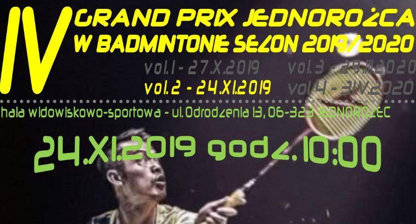 Badminton, Grand Jednorożca Badmintonie zaproszenie drugi turniej - zdjęcie, fotografia