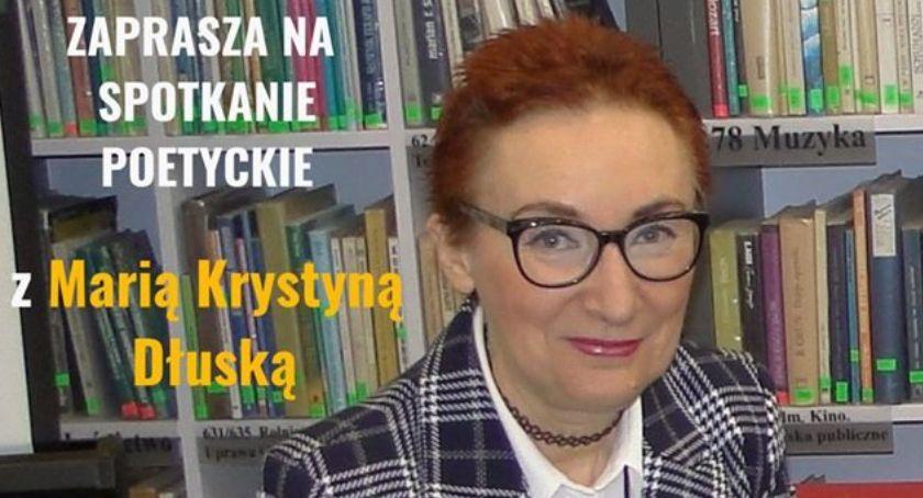 Książki - publikacje , Spotkanie poetyckie Panią Marią Krystyną Dłuską zaproszenie - zdjęcie, fotografia