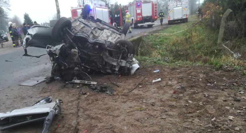 Wypadki drogowe, ostatniej chwili Poważny wypadek Ulatowo Pogorzel Wezwano śmigłowiec [Aktualizacja] - zdjęcie, fotografia