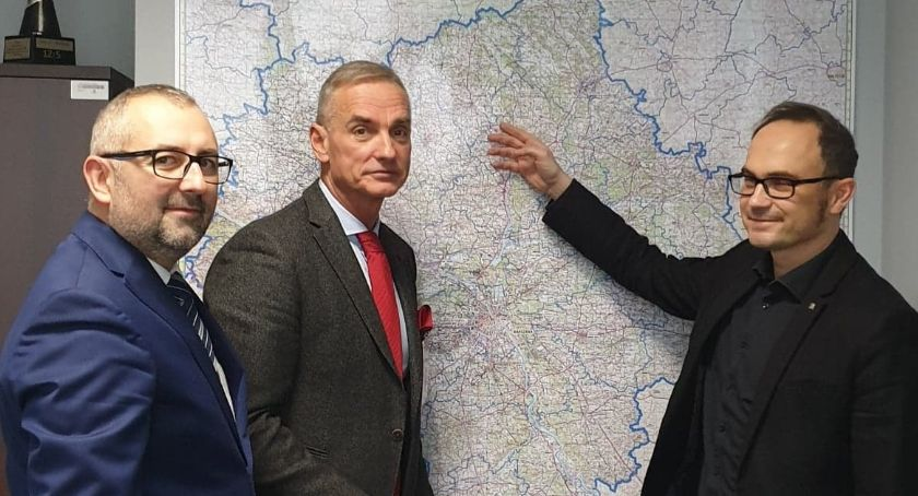 Starosta i Powiat, Starosta Bieńkowski GDDKiA Warszawie rozmawiał rondach obwodnicy Przasnysza - zdjęcie, fotografia