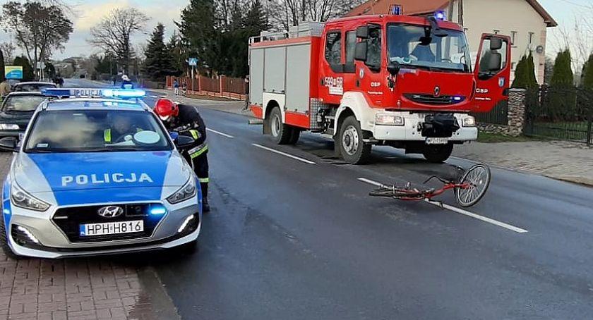 Wypadki drogowe, Śmiertelne potrącenie rowerzystki Krzynowłodze Małej - zdjęcie, fotografia