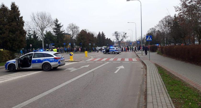 Komunikaty policji , Fałszywy Alarm przasnyskiej Trójce - zdjęcie, fotografia