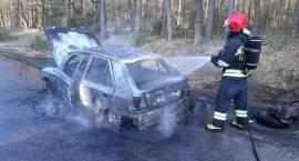Pożar samochodu osobowego w miejscowości Kobylaki Czarzaste