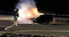 Pożar samochodu osobowego w Sierakowie