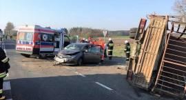 Wypadek samochodu osobowego z samochodem dostawczym w miejscowości Plewnik