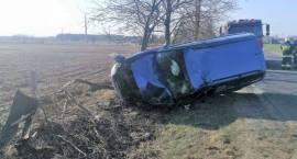 Wypadek samochodu osobowego w miejscowości Brzeski Kołaki