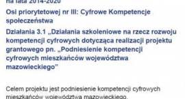 Podniesienie kompetencji cyfrowych mieszkańców gminy Jednorożec - zaproszenie