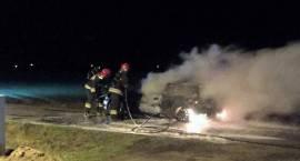 Pożar samochodu osobowego w Karwaczu
