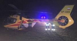 Strażacy zabezpieczyli lądowanie i start śmigłowca LPR w Krasnem