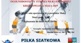 Ogólnodostępny Turniej Piłki Siatkowej - Krzynowłoga Mała 2019 - zaproszenie