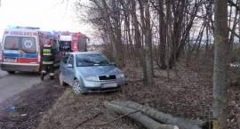 Wypadek samochodu osobowego w miejscowości Milewo Szwejki