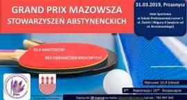 GRAND PRIX STOWARZYSZEŃ ABSTYNENCKICH w tenisie stołowym - zaproszenie