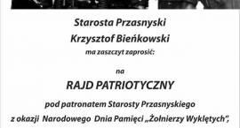 """Rajd Patriotyczny z okazji Narodowego Dnia Pamięci """"Żołnierzy Wyklętych"""" - zaproszenie"""