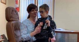 Gabinet Burmistrza w ramach akcji 1% odwiedził Kamil ze swoja mamą Angeliką