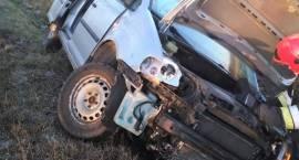 Kolizja samochodu osobowego w miejscowości Golany