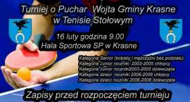 Turniej o Puchar Wójta Gminy Krasne w Tenisie Stołowym