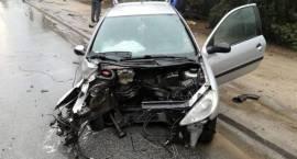 Kolizja samochodu osobowego w Przasnyszu