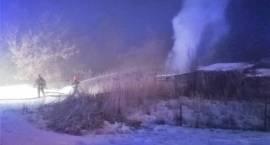 Pożar budynku gospodarczego w miejscowości Olszewiec