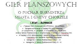 II Gminny Turniej Gier Planszowych w Chorzelach - zaproszenie