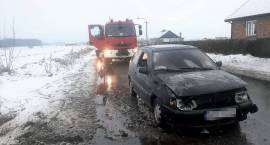 Pożar samochodu osobowego w miejscowości Szla