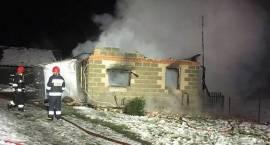 Pożar domu jednorodzinnego w miejscowości Czaplice Wielkie