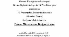 VII Przasnyskie Spotkanie Muzealne - Historia i Pamięć - zaproszenie