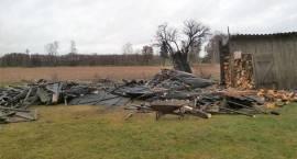 Pożar budynku gospodarczego w miejscowości Fijałkowo