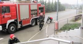 Pożar w Szpitalu Powiatowym w Przasnyszu - ćwiczenia ewakuacyjne