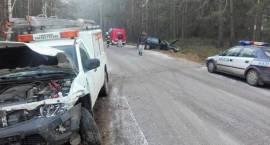 Uwaga - ślisko na drogach! Wypadek dwóch samochodów osobowych w miejscowości Krukowo.
