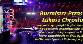 Spotkanie miłośników e-sportu - zaproszenie