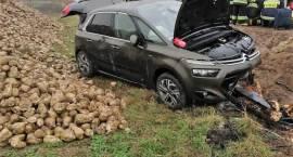 Wypadek samochodu osobowego w miejscowości Gostkowo