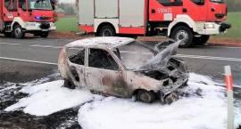 Pożar samochodu i śmiertelny wypadek w miejscowości Plewnik