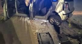 Wypadek samochodu osobowego w Przasnyszu