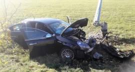 Wypadek samochodów osobowych w miejscowości Czaplice-Furmany