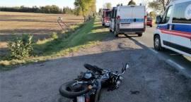 Wypadek motocykla z samochodem osobowym w miejscowości Świniary