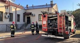 Pożar w pomieszczeniu Banku Pekao SA w Przasnyszu