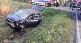 Wypadek dwóch samochodów osobowych w miejscowości Żebry-Kordy